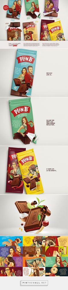 Plan B / Depot WPF packaging on Behance by Nikita Ivanov curated by Packaging Diva PD. Feel better and eat lots of chocolate. Be sure and read all of them to find one that suits your fancy : )