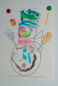 snowman printable color sheet (snowman unit study)