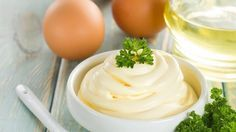 You'll be amazed at the bright flavor of homemade mayonnaise. It's really very simple and fast to make with a blender or processor. Variations are given for flavored mayonnaise as well. Homemade Mayonnaise Yield: Makes about 1 Healthy Mayonnaise, Mayonnaise Recipe, Fodmap Recipes, Paleo Recipes, Cooking Recipes, Jar Recipes, Homemade Mayonaise, Fermented Foods, Food And Drink