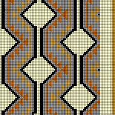 A64263 - friendship-bracelets.net Crochet Clutch, Crochet Handbags, Crochet Purses, Tapestry Crochet Patterns, Weaving Patterns, Cross Stitch Embroidery, Cross Stitch Patterns, Mochila Crochet, Plastic Canvas Tissue Boxes