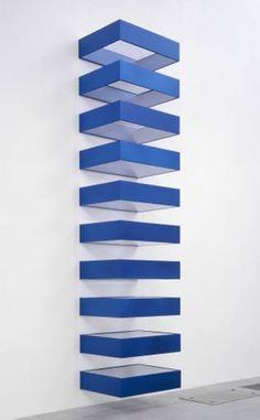 Donald Judd.Untitled  Anodised aluminium, steel and acrylic 1990