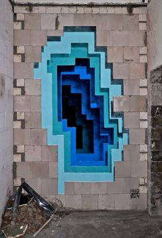 3D Street Art Painted On Flat Surfaces Look Like Layers Of Cut Paper - buzzcarl