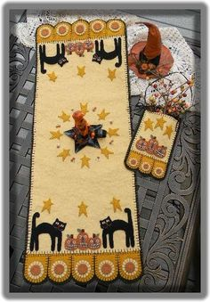 Halloween Cats and Jacks Penny Rug Penny Pocket Instant Download E Pattern