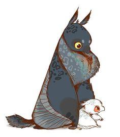 https://www.facebook.com/photo.php?fbid=849324348465317 Mythological Creatures, Mythical Creatures, Fantasy Creatures, Cute Creatures, Character Illustration, Illustration Art, Creature Drawings, Animal Drawings, Art Drawings