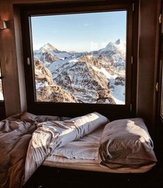 Bedroom views at 10,000ft. Surrounded by miles of mountain peaks. Mt. Titlis, Switzerland. Shot by @emitoms | Follow us on Instagram @upknorth