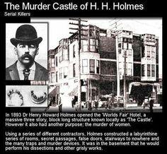 Murder Castle of Dr. h.h.holmes, #serialkiller. America's first serial killer.