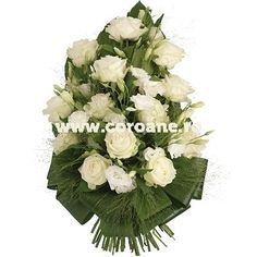 Buchet funerar trandafiri albi, un buchet funerar flori albe pentru un ultim omagiu special. Floral Wreath, Wreaths, Home Decor, Floral Crown, Decoration Home, Door Wreaths, Room Decor, Deco Mesh Wreaths, Home Interior Design
