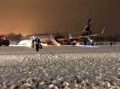 NEWS Aeroflot Flight #SU1008 (VP-BES) skids off the runway on landing at Khrabrovo Airport, Russia. (3-JAN-2017).
