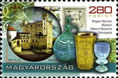 2011 Treasures of the Hungarian Museums, Set of Designs: Various items from and building for: Rákóczi Museum, Sárospatak. Várpalota Museum of Chemistry. Sell Stamps, Stamp Catalogue, Postage Stamps, Fine Art, Painting, Chemistry, Islamic, Indian, Spaces