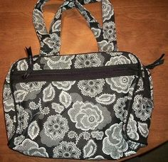Thirty One Cosmetic Bag Black Batanical Lace by Thirty One. $39.99