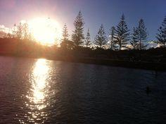 Sunset on talle estuary, bliss