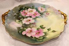 Vintage Limoges fine porcelain plate by D & C by ADORNchicago