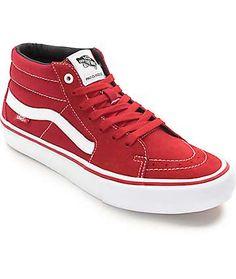 Scarlet Red   White Skate Shoes Skate Shoes 1edd46f0a