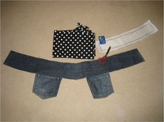 DIY utility belt upcycle jeans