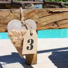 Una forma muy especial de poner el número de las mesas de tus invitados #eventos #bodas