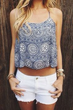 Love this top and those shorts together