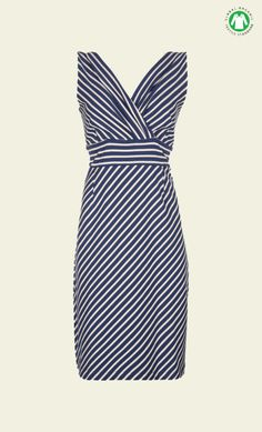 King Louie - Double Cross Over Dress Breton Stripe