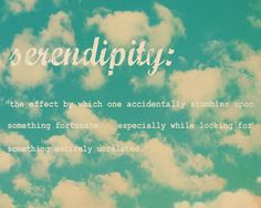 somehowlou: Serendipity - this blissful feeling..
