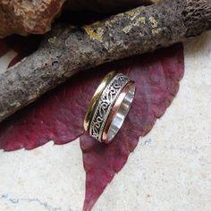 Bandring, Kupfer & vergoldet, Ring, Ø 18,25 mm, 925 Sterling Silber in Uhren & Schmuck, Echtschmuck, Ringe | eBay
