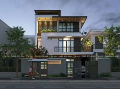 Ideas For Design House Front Modern Architecture 3 Storey House Design, Bungalow House Design, House Front Design, Modern Bungalow, Modern Exterior House Designs, Modern House Design, Exterior Design, Architecture Design, Facade Design