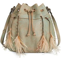Patricia Nash Washed Denim Picerno Drawstring Crossbody ($249) ❤ liked on Polyvore featuring bags, handbags, shoulder bags, light denim, drawstring bag, patricia nash purses, denim handbags, brown purse and denim purse