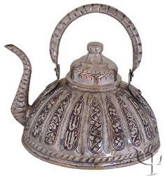 Turkish Copper Sliced Teapot