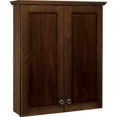 Style Selections�Liberton 29-in H x 25-in W x 7-3/4-in D Cocoa Storage Cabinet
