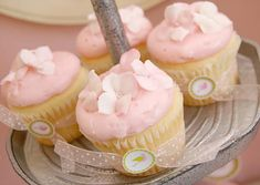 cute pink baby girl shower cupcakes