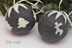 Baumschmuck: Kugeln - Weihnachtskugel, groß, Filz ,Christbaumkugeln - ein Designerstück von Mafiz bei DaWanda