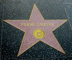 Frank Sinatra's star on The Hollywood Walk of Fame