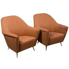 Mid-Century Italian Armchairs | See more antique and modern Chairs at https://www.1stdibs.com/furniture/seating/chairs