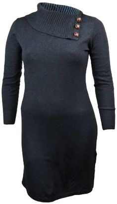 Chequer Women`s Sweater Dress Charcoal Grey for only $99.99 You save: $48.01 (32%)