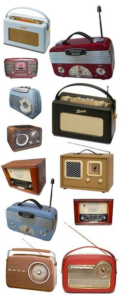Vintage radios | More vintage lusciousness here: http://mylusciouslife.com/photo-galleries/vintage-style-lovely-nods-to-the-past/