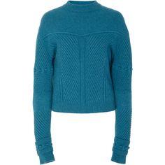 Stitch Wool And Cashmere Crewneck Sweater | Moda Operandi ($1,860) via Polyvore featuring tops and sweaters