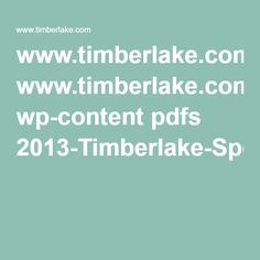 www.timberlake.com wp-content pdfs 2013-Timberlake-Specification-Guide.pdf