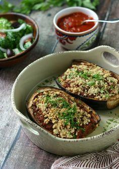 meat-stuffed eggplants | stuffed eggplant recipes, stuffed
