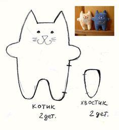 самодельные мягкие игрушки кошки - Поиск в Google