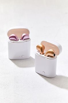 Urban Outfitters Wireless Ear Pod Headphones - Pink One Size Best In Ear Headphones, Computer Headphones, Wireless Earbuds, Accessoires Iphone, Earphone Case, Smartphone, Airpod Case, Air Pods, Iphone Accessories