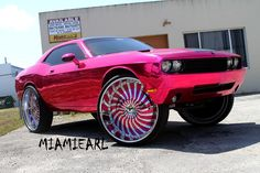 Pink Chrome Challenger On 32-Inch Forgiato Wheels - Rides Magazine