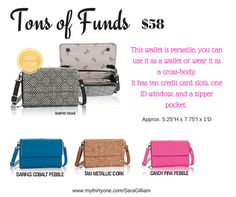 New Wallet from Thirty One, Tons of Funds. Spring 2016