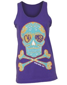 Chi Omega Skull Tank! Love this @Stacey Plunkett-Cruz! Thanks for sending it to me!