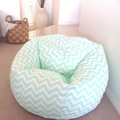Mint Green Chevron Bean Bag
