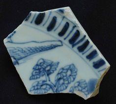 Mudlarking find, unusually large shard of chinese export porcelain
