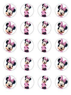 Minnie Mouse 1st Birthday, Minnie Mouse Baby Shower, Minnie Mouse Pink, Minnie Mouse Cupcake Toppers, Minnie Mouse Party Decorations, Mouse Parties, Girly, Photos, Ideas