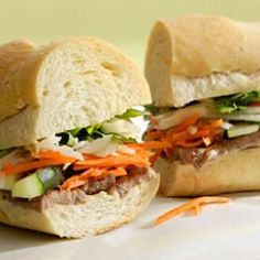 Vietnamese Steak Sandwich Recipe (I would replace the white baguette with a higher fibre alternative, but the filling sounds yummo!)