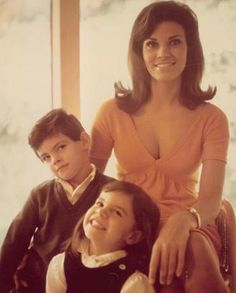 Raquel Welch and her two children, Tahnee  & Damon Welch - this was taken shortly after she signed her first studio contract with Fox ca. 1964
