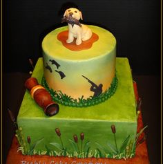 Our grooms cake is a combo of this one and the one with the duck on top!  Duck Hunting Grooms Cake