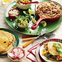 Slow-Cooker Pork Tacos Al Pastor with All the Fixings | MyRecipes.com