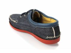 (3) Denim Blucher Shoes with a Red Brick Camp Sole - Quoddy Mens Handsewn Selvedge Denim Moccasins, Loafers & Boat Shoes - Made in Denim Picks 2013 Spring Footwear