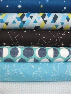 Lizzy House, Constellations, Star Gazer, 6 Total.  This would be awesome for his room if I make his bedding.